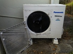 Air conditioning unit / heat pump - before servicing by Air Force One, Auckland